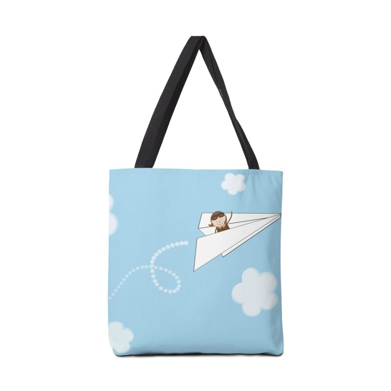 Paper Aeroplane Pilot Accessories Tote Bag Bag by {mostly} Smiling Sticks