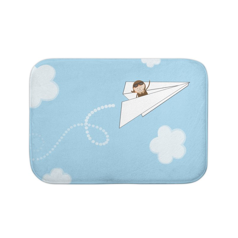 Paper Aeroplane Pilot Home Bath Mat by {mostly} Smiling Sticks