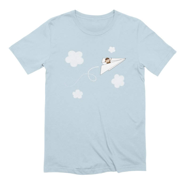 Paper Aeroplane Pilot Men's Extra Soft T-Shirt by {mostly} Smiling Sticks