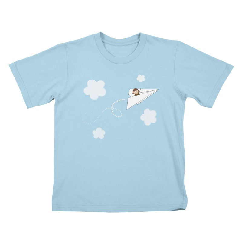 Paper Aeroplane Pilot Kids T-Shirt by {mostly} Smiling Sticks