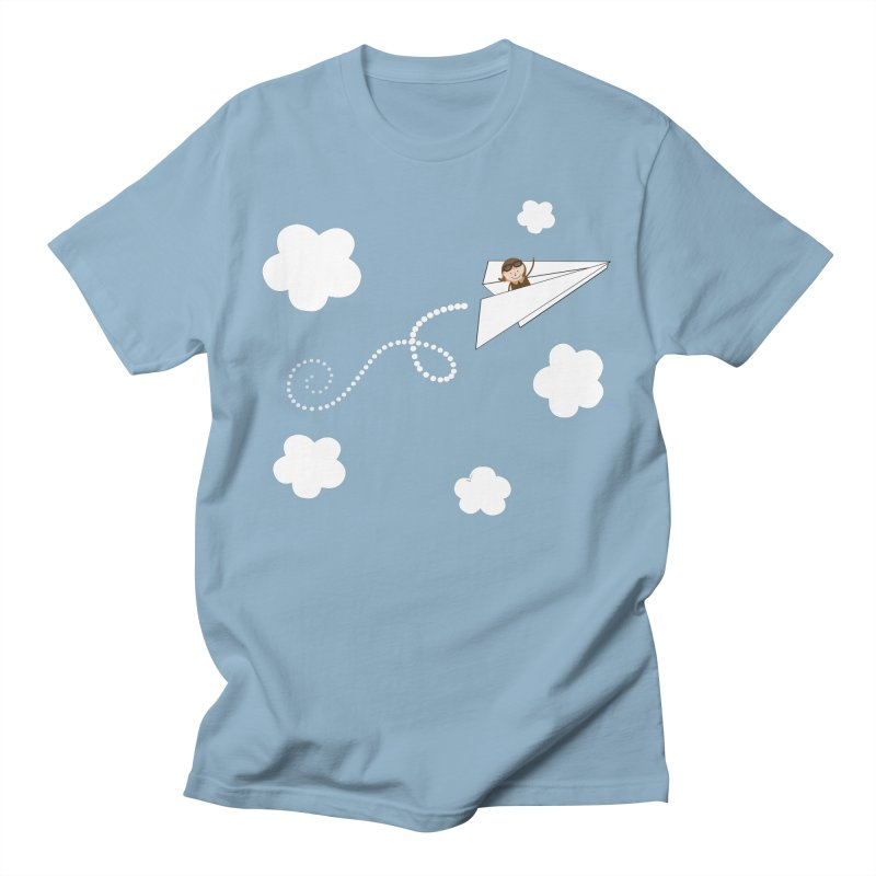 Paper Aeroplane Pilot Men's T-Shirt by {mostly} Smiling Sticks