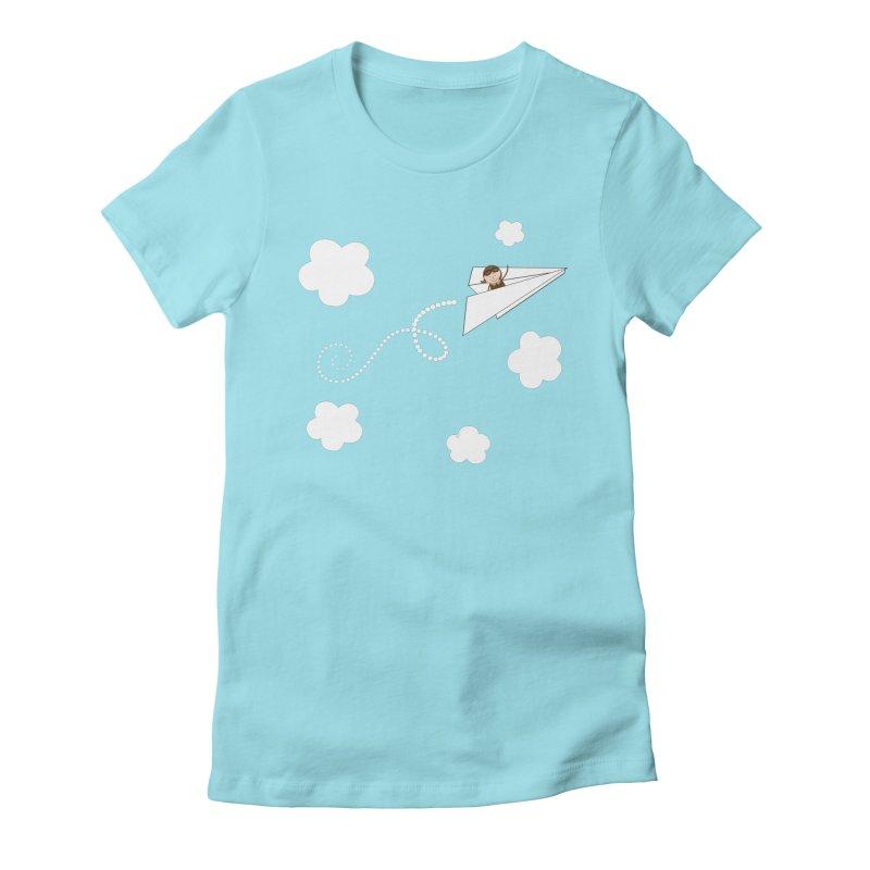 Paper Aeroplane Pilot Women's T-Shirt by {mostly} Smiling Sticks