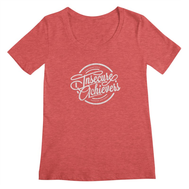 Insecure Achievers Women's Scoopneck by smith's Artist Shop
