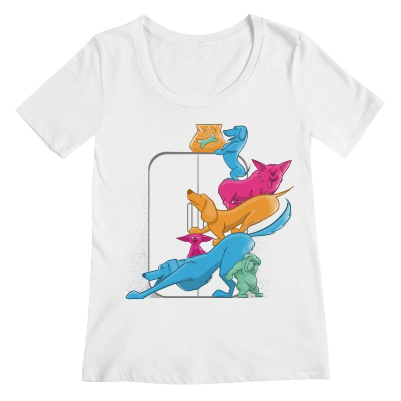Bad to the Bone Women's Scoopneck by smith's Artist Shop