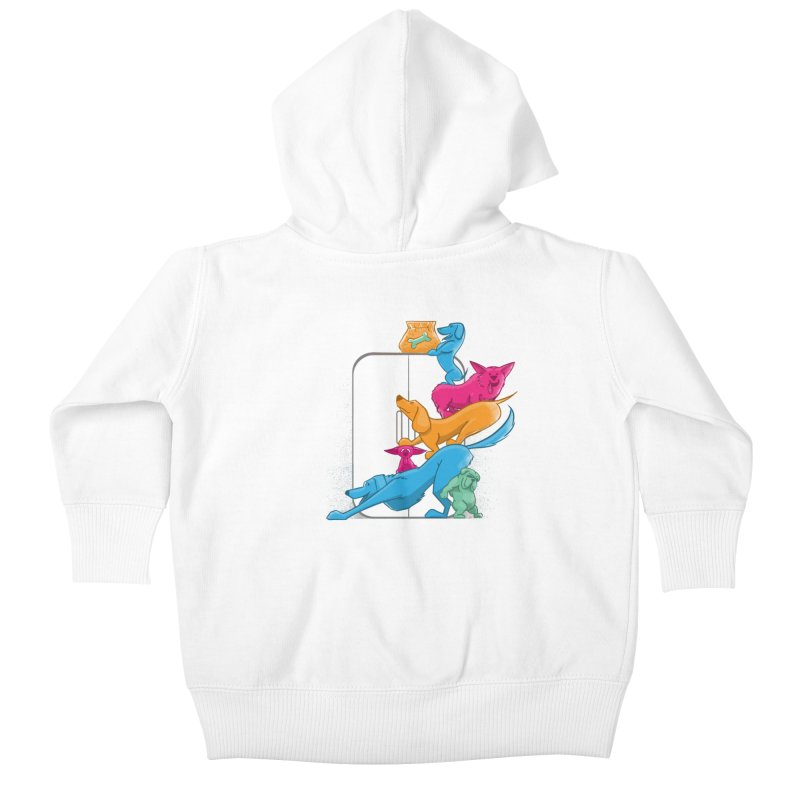 Bad to the Bone Kids Baby Zip-Up Hoody by smith's Artist Shop