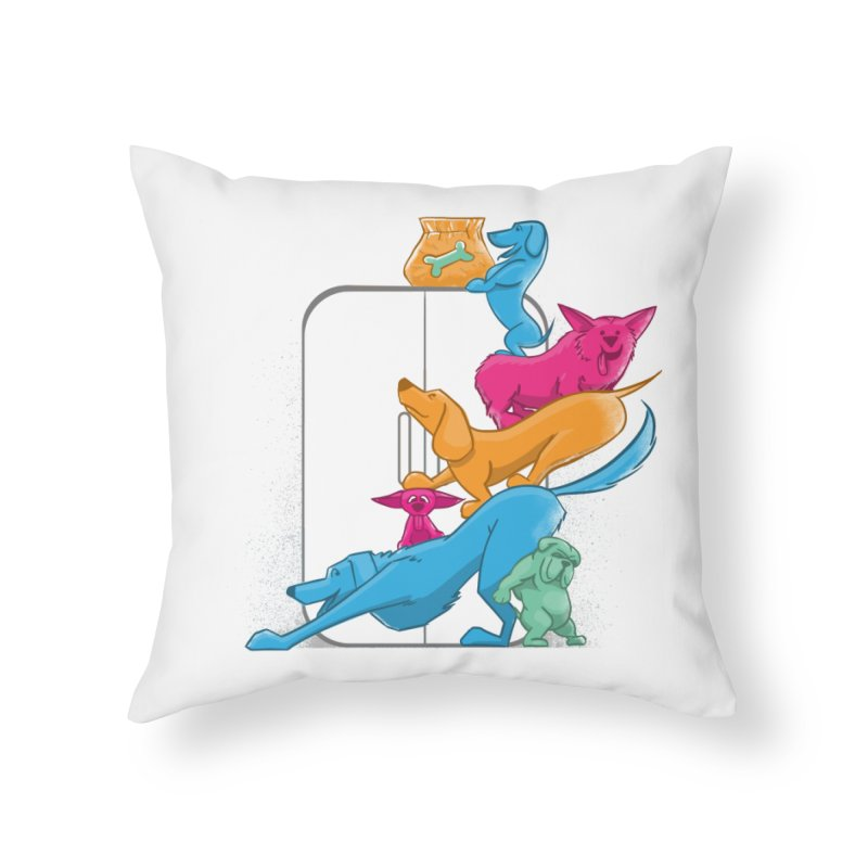 Bad to the Bone Home Throw Pillow by smith's Artist Shop