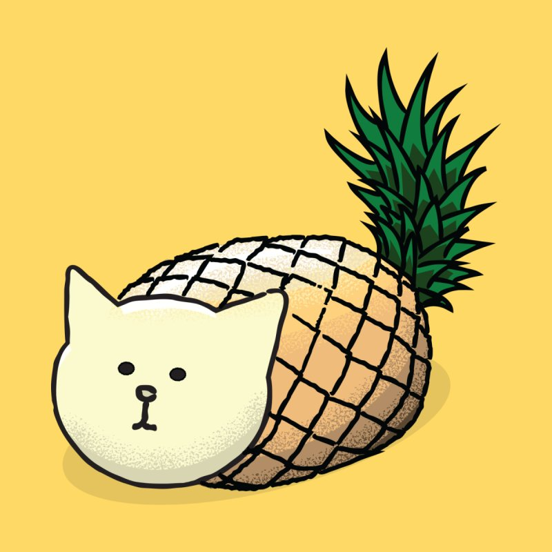 Pineapple Cat None  by smith's Artist Shop