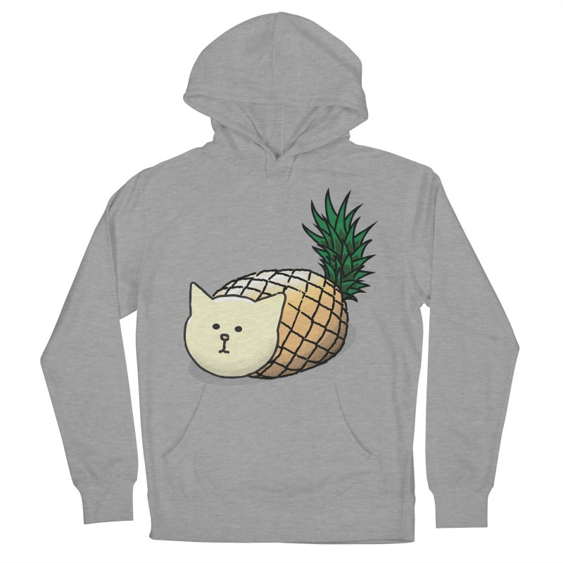 Pineapple Cat Men's Pullover Hoody by smith's Artist Shop