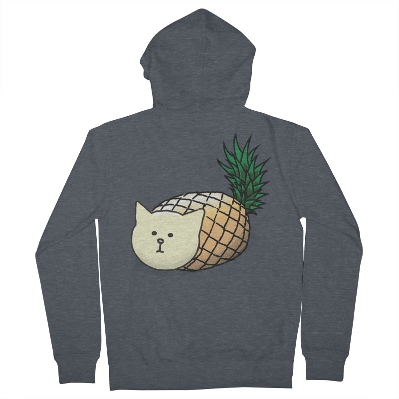 Pineapple Cat Women's Zip-Up Hoody by smith's Artist Shop