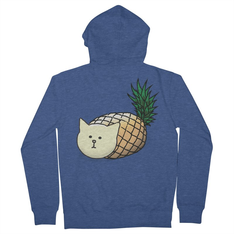 Pineapple Cat Men's Zip-Up Hoody by smith's Artist Shop