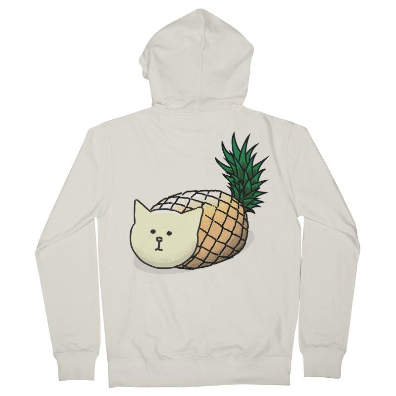 Pineapple Cat Men's Zip-Up Hoody by smith's Artist Shop