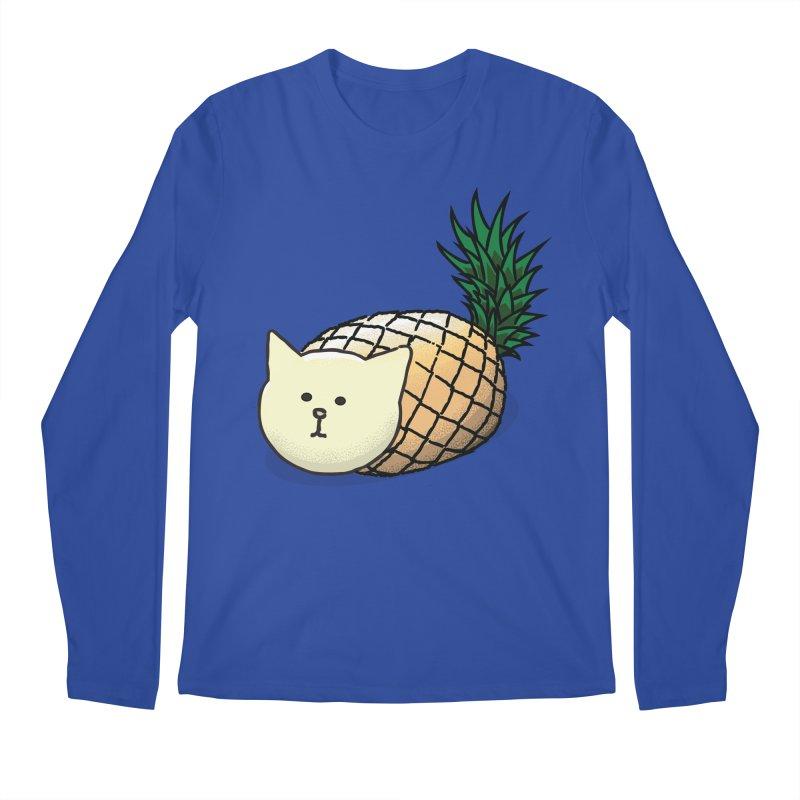 Pineapple Cat Men's Longsleeve T-Shirt by smith's Artist Shop