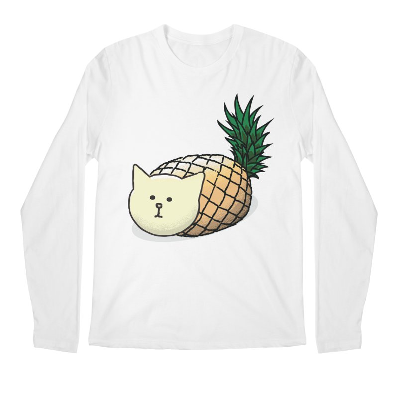 Pineapple Cat Men's Longsleeve T-Shirt by smith's Artist Shop