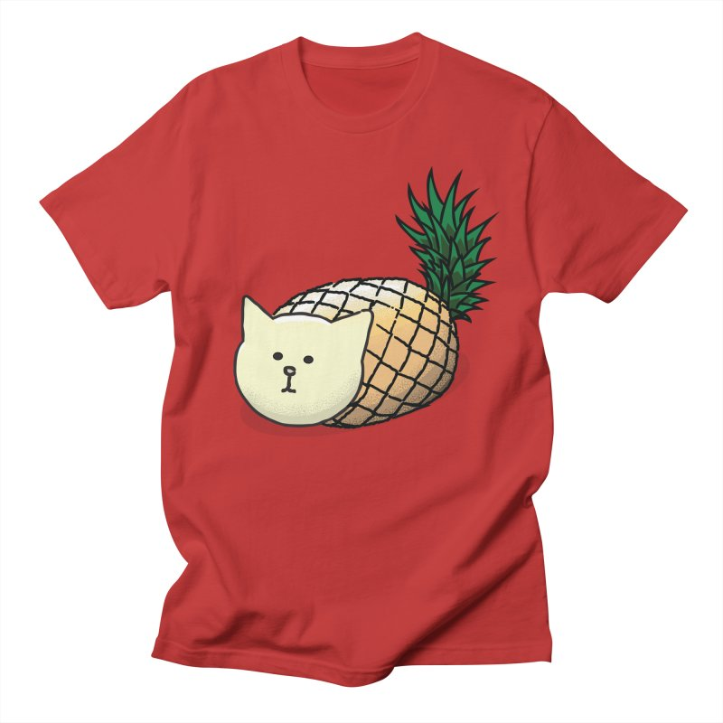 Pineapple Cat Men's T-Shirt by smith's Artist Shop