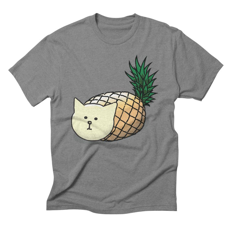 Pineapple Cat Men's Triblend T-shirt by smith's Artist Shop