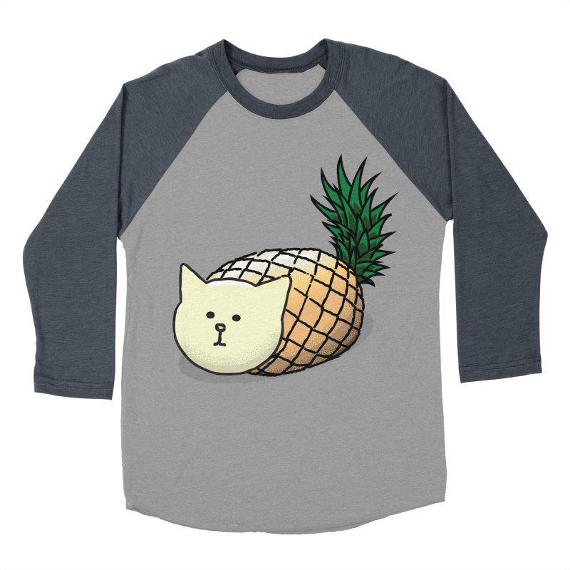 Pineapple Cat Men's Baseball Triblend T-Shirt by smith's Artist Shop