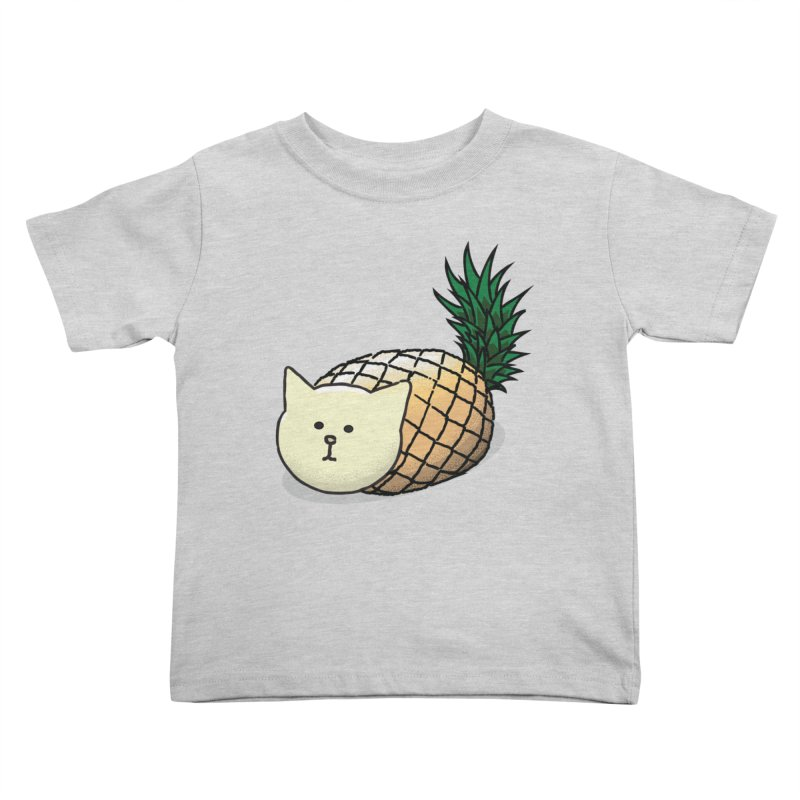 Pineapple Cat Kids Toddler T-Shirt by smith's Artist Shop