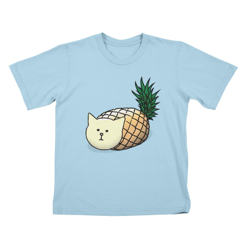 Pineapple Cat Kids T-Shirt by smith's Artist Shop