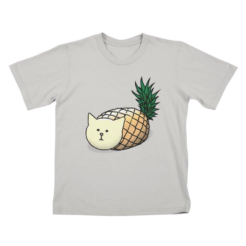 Pineapple Cat Kids T-shirt by smith's Artist Shop
