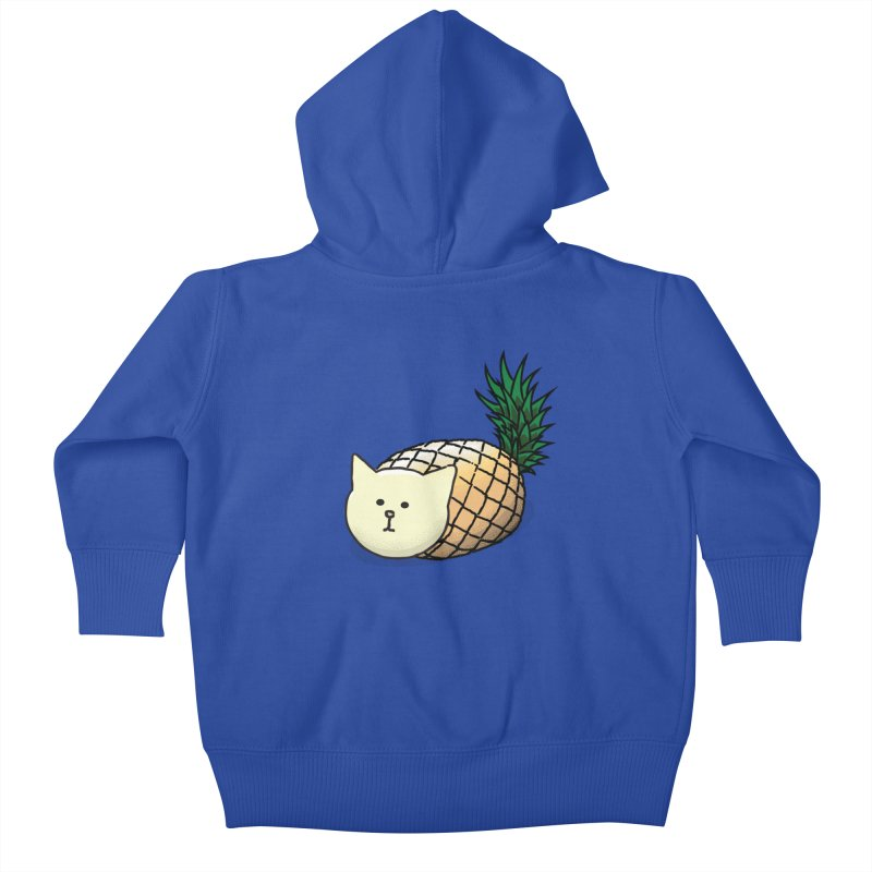Pineapple Cat Kids Baby Zip-Up Hoody by smith's Artist Shop