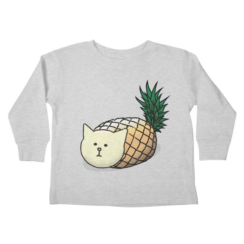 Pineapple Cat Kids Toddler Longsleeve T-Shirt by smith's Artist Shop