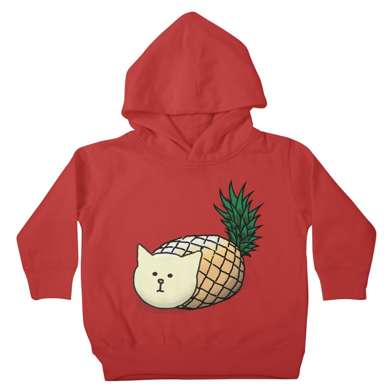 Pineapple Cat Kids Toddler Pullover Hoody by smith's Artist Shop