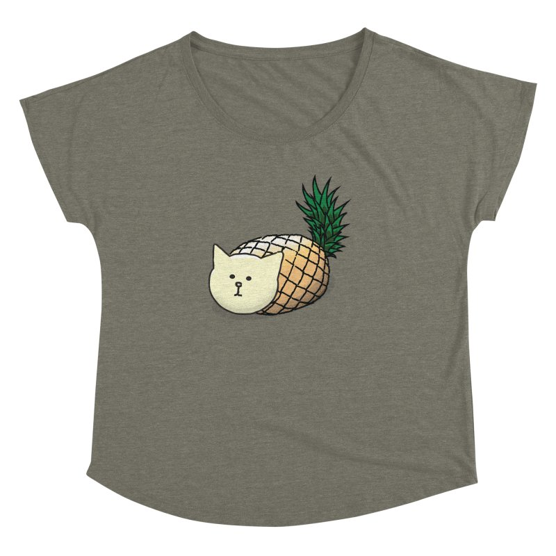 Pineapple Cat Women's Dolman by smith's Artist Shop