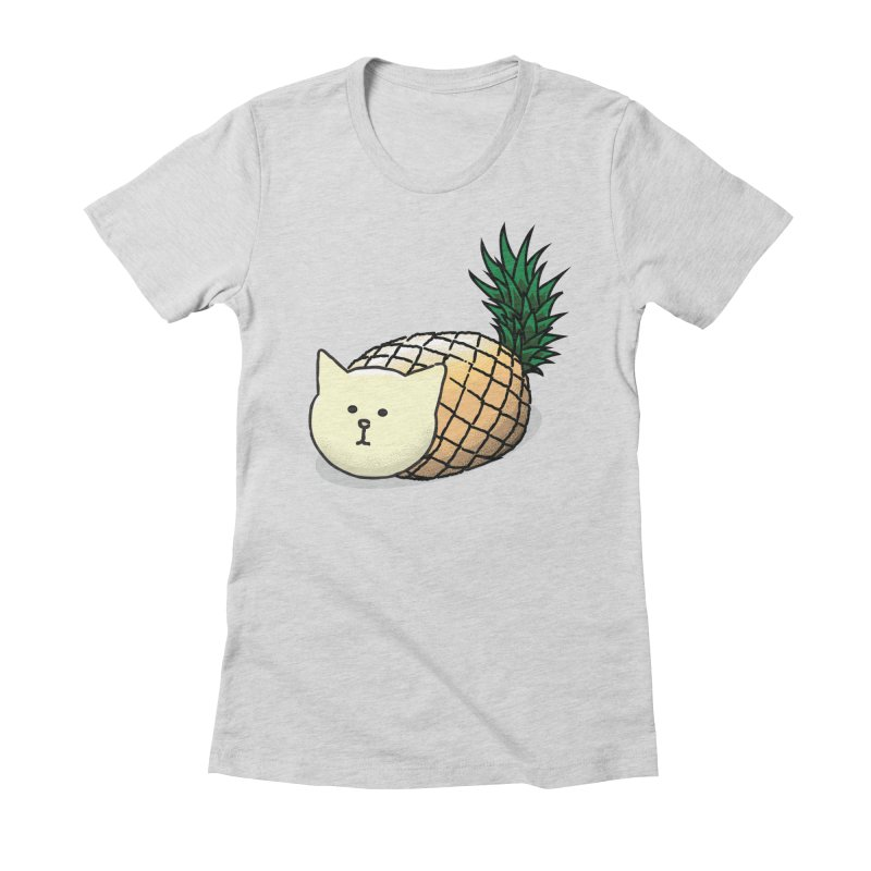 Pineapple Cat Women's Fitted T-Shirt by smith's Artist Shop