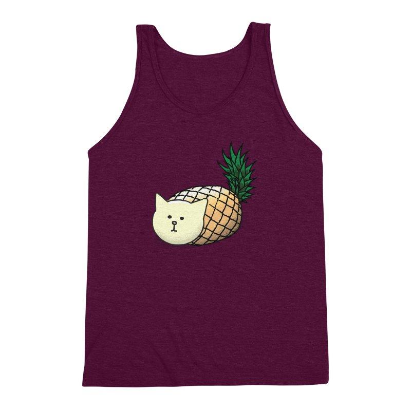 Pineapple Cat Men's Triblend Tank by smith's Artist Shop