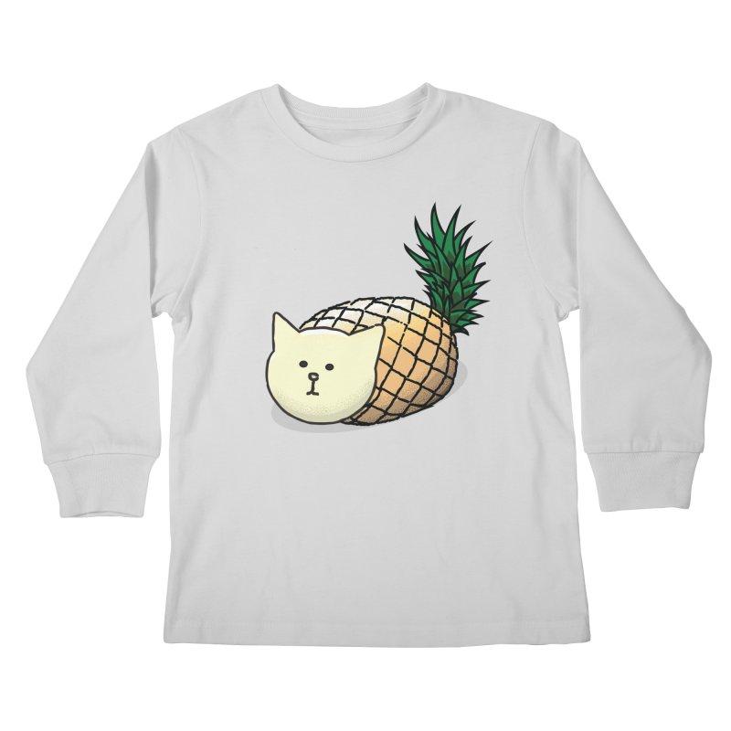 Pineapple Cat Kids Longsleeve T-Shirt by smith's Artist Shop