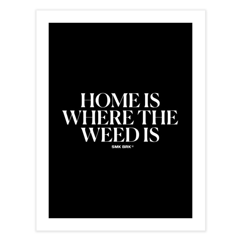 AT HOME Home Fine Art Print by SMK HAUS Pop-Up