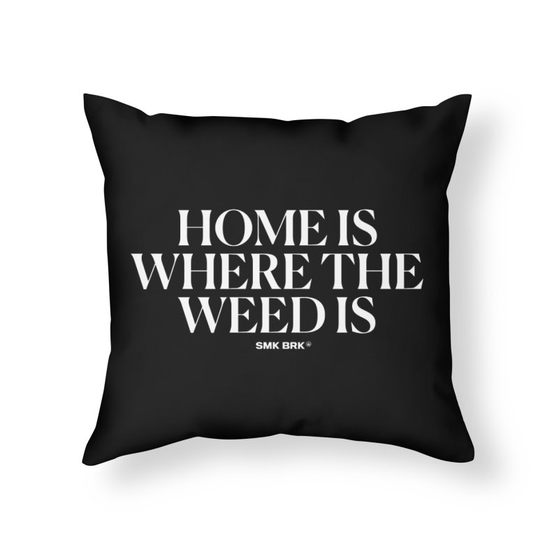 AT HOME Home Throw Pillow by SMK HAUS Pop-Up