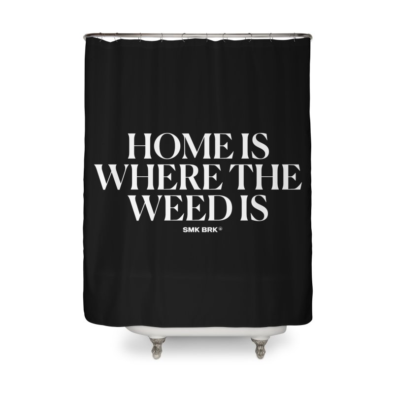 AT HOME Home Shower Curtain by SMK HAUS Pop-Up
