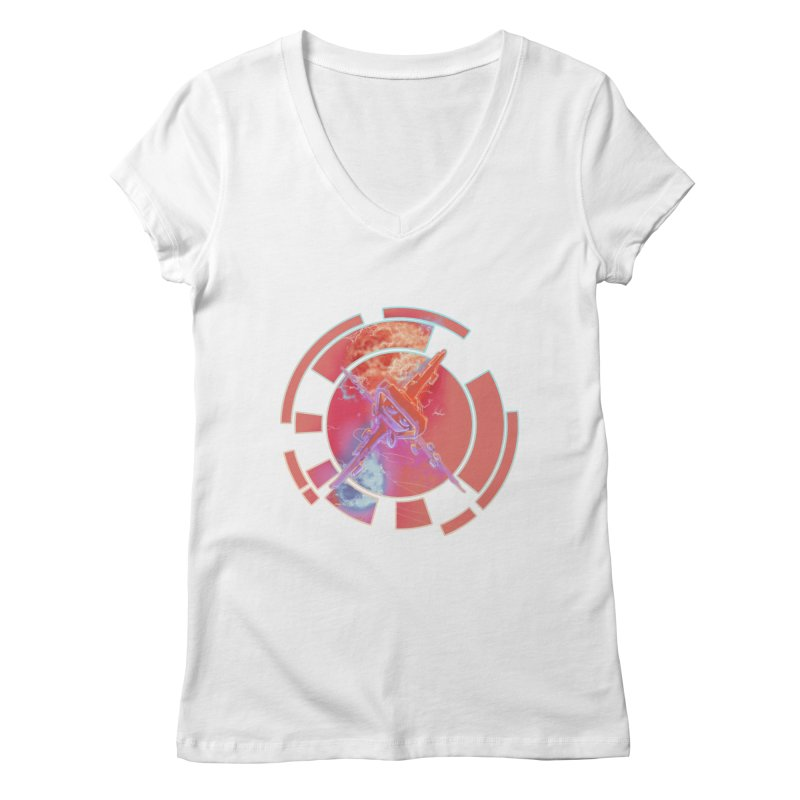Twin Boom! Women's V-Neck by smokeapes's Artist Shop