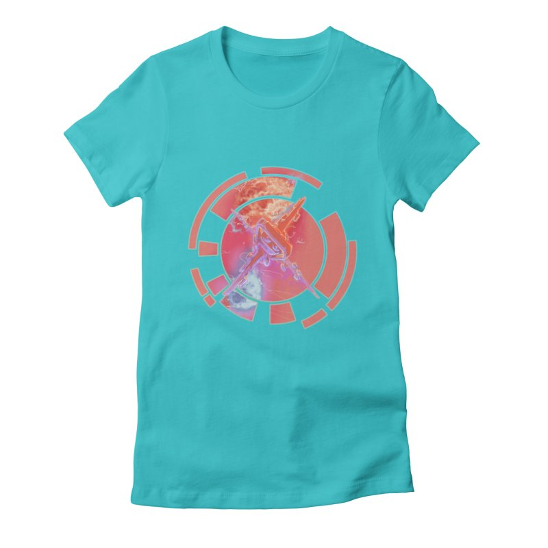 Twin Boom! Women's Fitted T-Shirt by smokeapes's Artist Shop