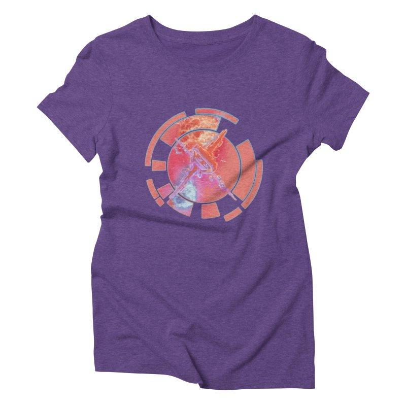 Twin Boom! Women's Triblend T-Shirt by smokeapes's Artist Shop