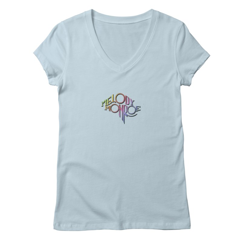 Melody Monroe Hypetrain 01 in Women's Regular V-Neck Baby Blue by smokeapes's Artist Shop
