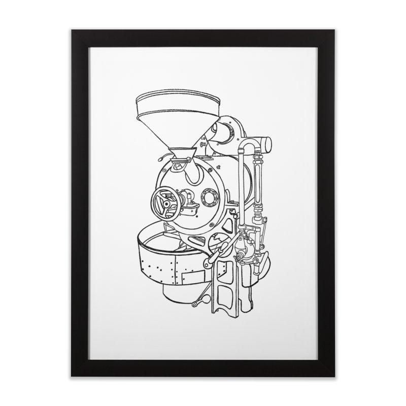 Gothot Roaster, Black Home Framed Fine Art Print by Smokeproof