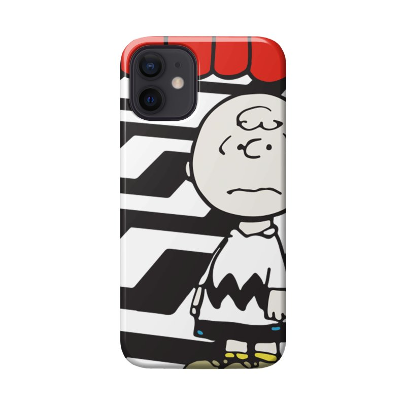 Blockhead in the Black Lodge (wht) Accessories Phone Case by Smokeproof