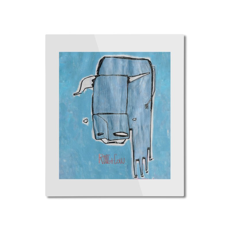 Rough Cow: Steely Dancer Home Mounted Aluminum Print by Smokeproof