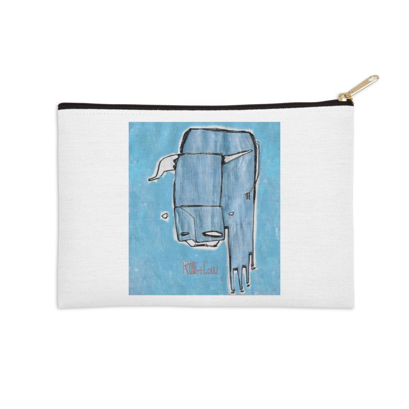 Rough Cow: Steely Dancer Accessories Zip Pouch by Smokeproof