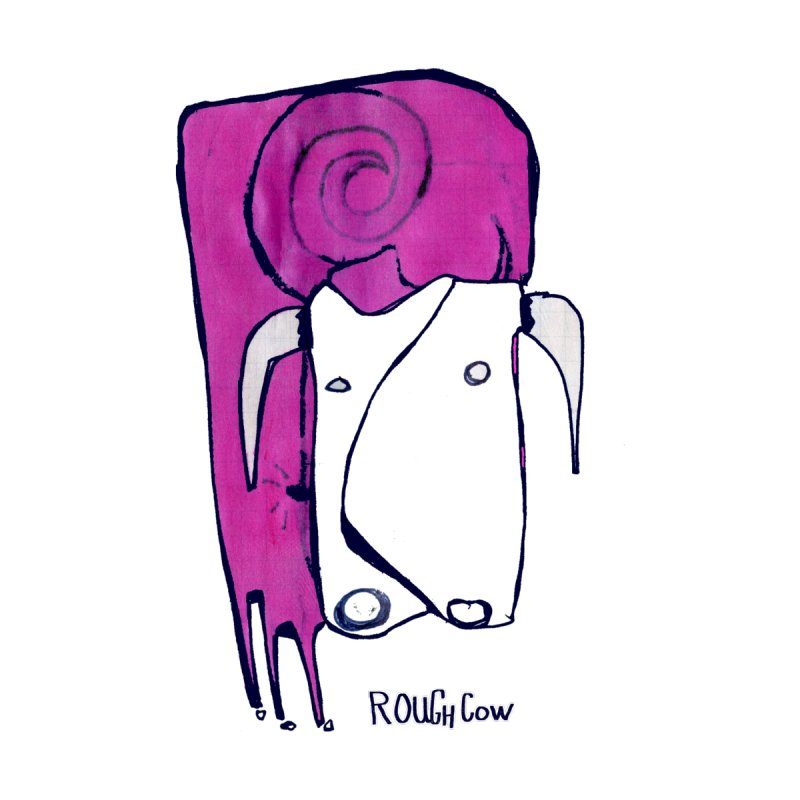 Rough Cow: Doppio Accessories Greeting Card by Smokeproof