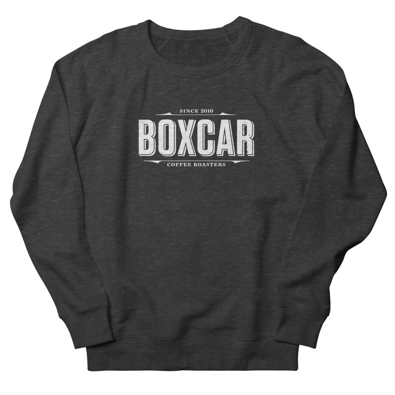 Boxcar Wordmark, White (distressed) Women's Sweatshirt by Smokeproof