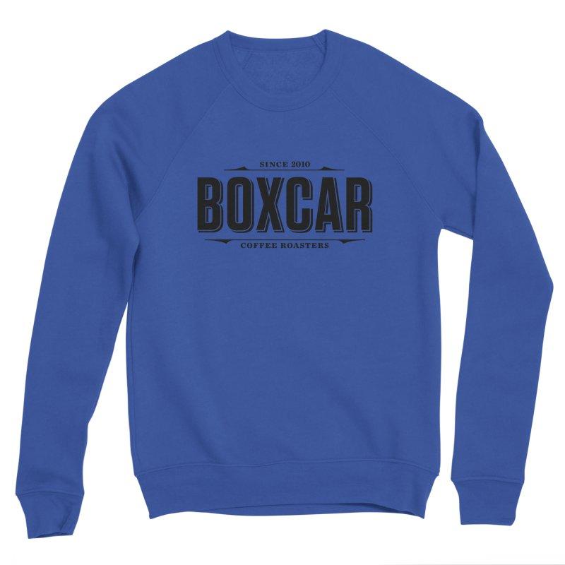Boxcar Wordmark, Black Men's Sweatshirt by Smokeproof