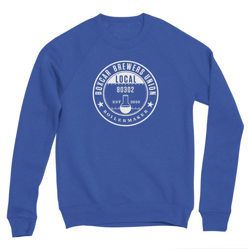 Brewer's Union Badge, White Men's Sweatshirt by Smokeproof