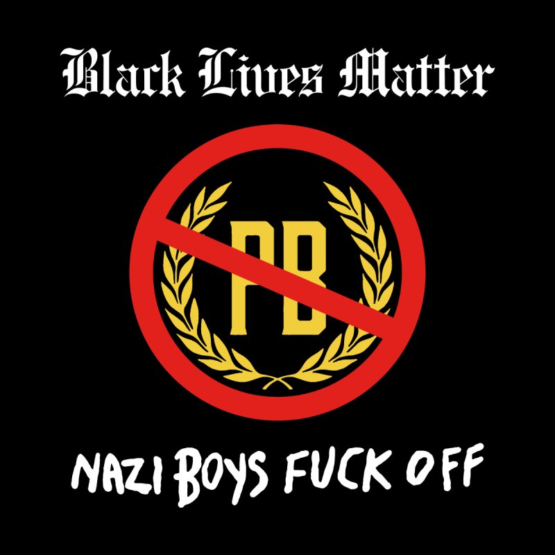 BLM Mashup: Nazi Boys F**k Off! Men's T-Shirt by Smokeproof