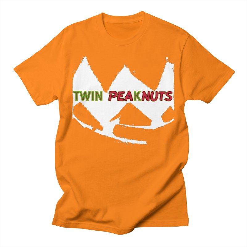 Twin Pea(k)nuts Mashup Logo (wht) Men's T-Shirt by Smokeproof