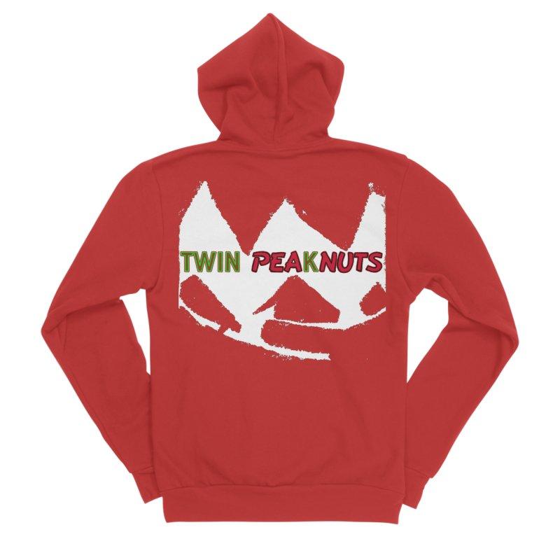 Twin Pea(k)nuts Mashup Logo (wht) Women's Zip-Up Hoody by Smokeproof