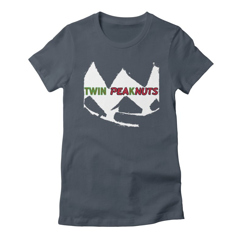 Twin Pea(k)nuts Mashup Logo (wht) Women's T-Shirt by Smokeproof
