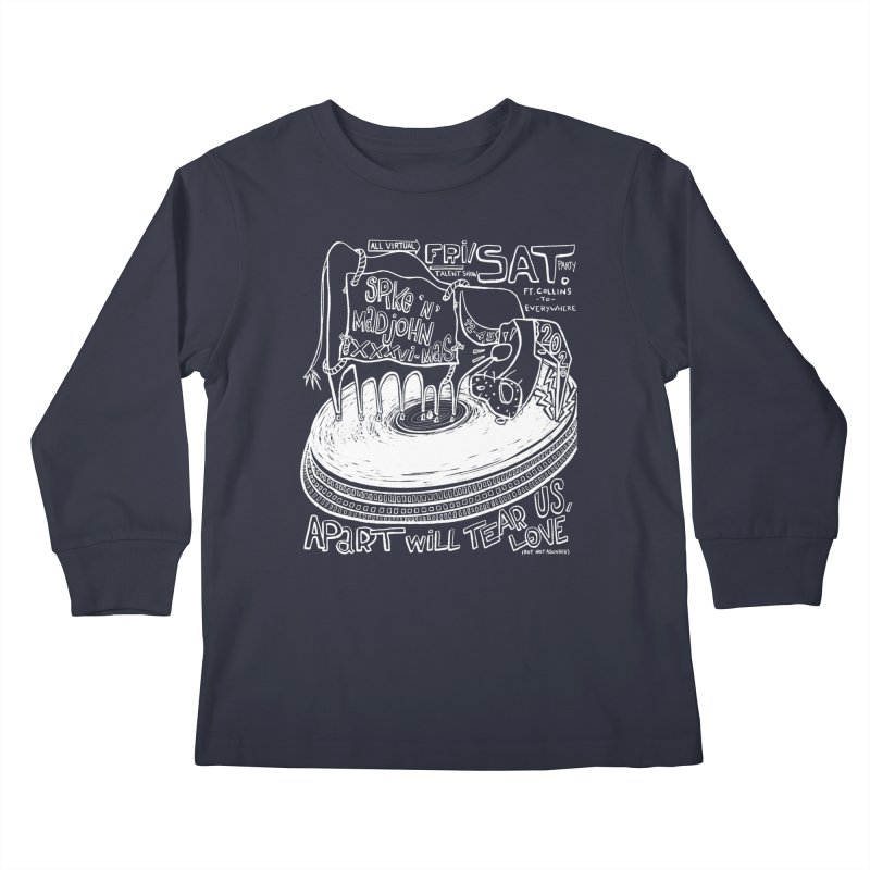 SMJ XXXVI Turntable Kids Longsleeve T-Shirt by Smokeproof